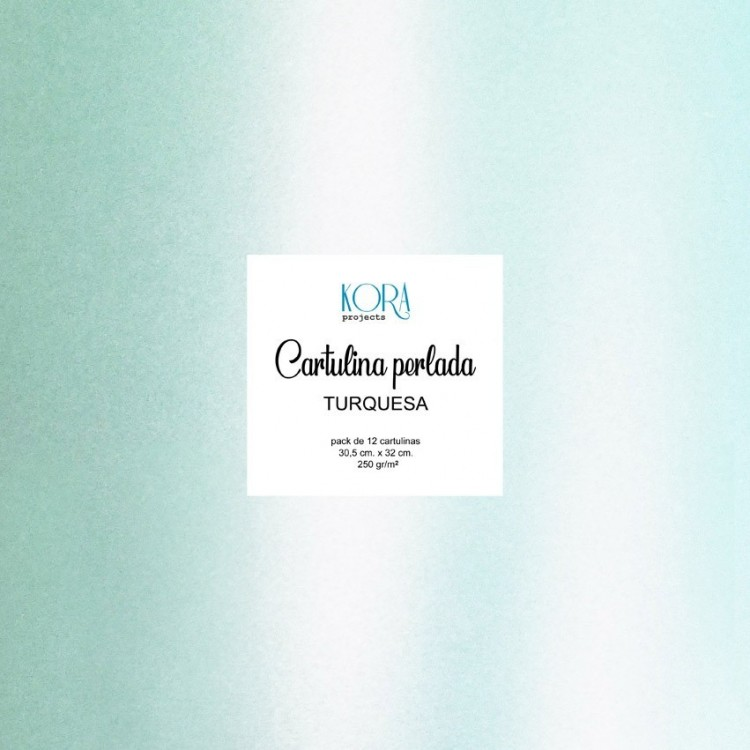 Pack of pearl cardboard - Turquoise