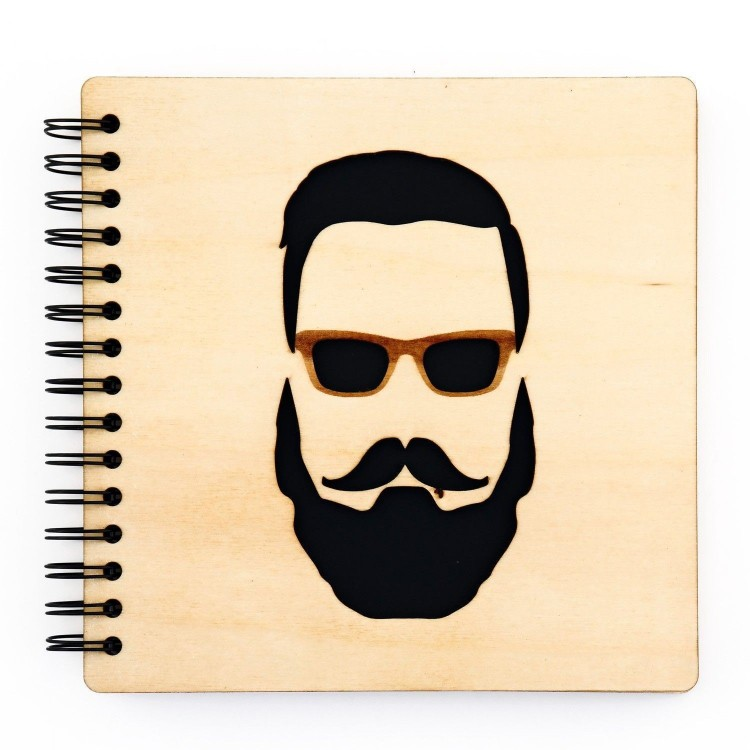 Notebook - Hipster face