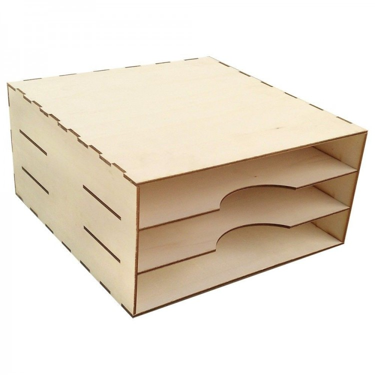 Organizer with three compartments for 12'x12' (30.5 x 30.5 cm) papers