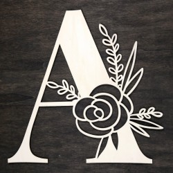 Initial floral wooden letter - A