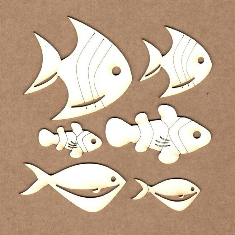Chipboard - Fishes