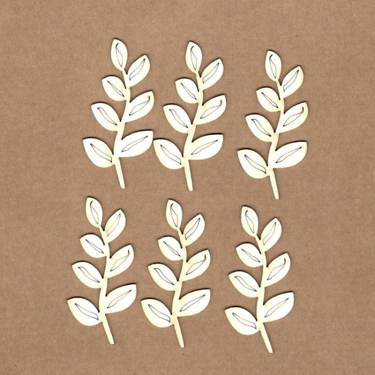 Chipboard - Branch with leaves