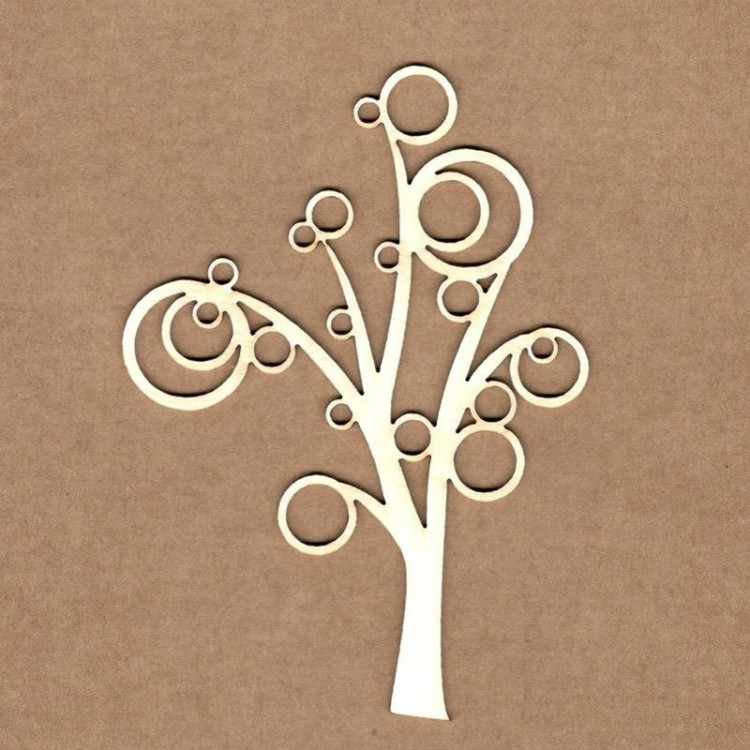 Chipboard - Tree with bubbles