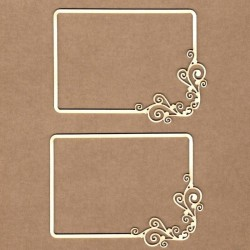 Initail floral wooden letter . L