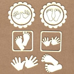 Chipboard - Hands and Feet