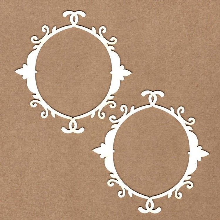 Chipboard - Deco oval frame
