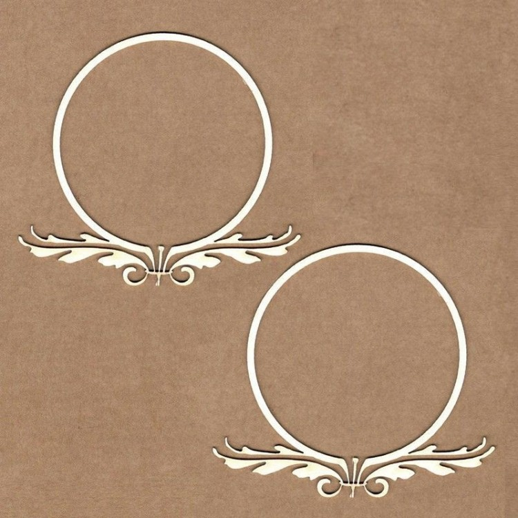 Chipboard - Round imperial frame