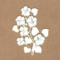 Chipboard - Bouquet of pansies
