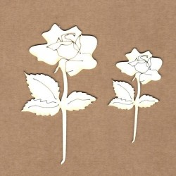Chipboard - Opened rose
