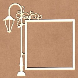 Chipboard - Lampost with square frame