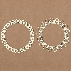 Chipboard - Round lace frame