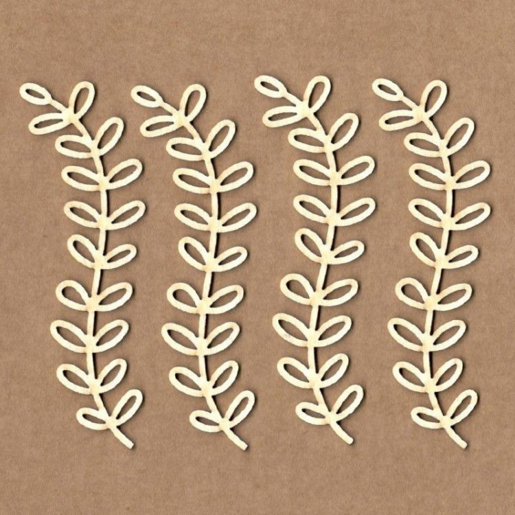 Chipboard - Curved olive branch
