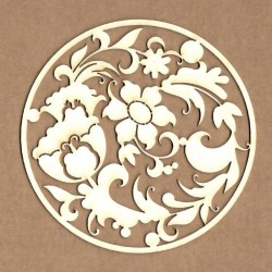Chipboard - Floral circle
