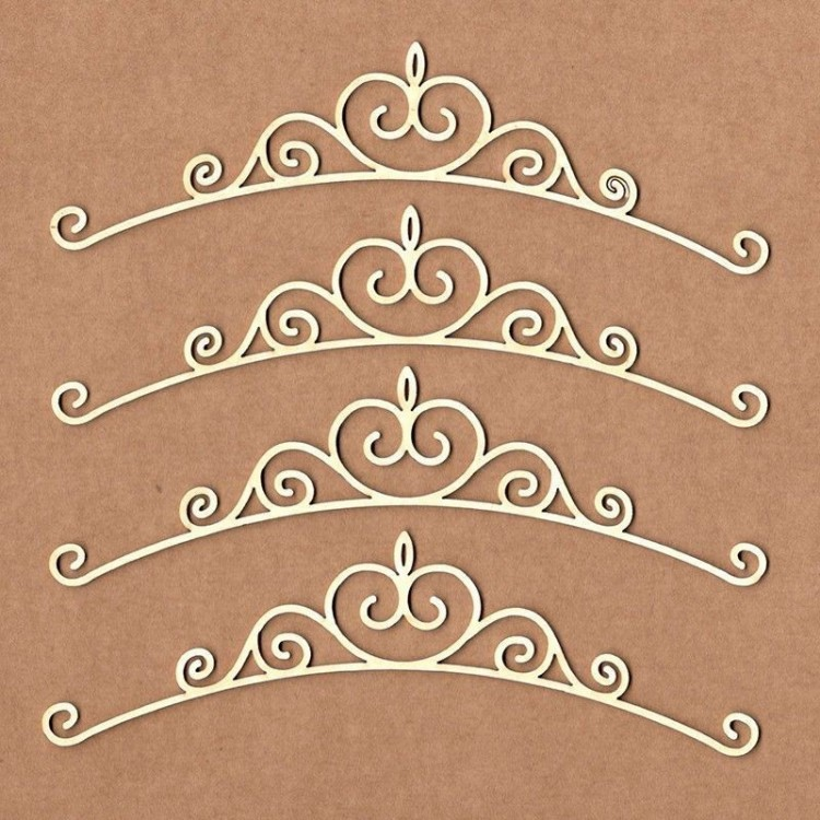 Chipboard - Curved victorian border