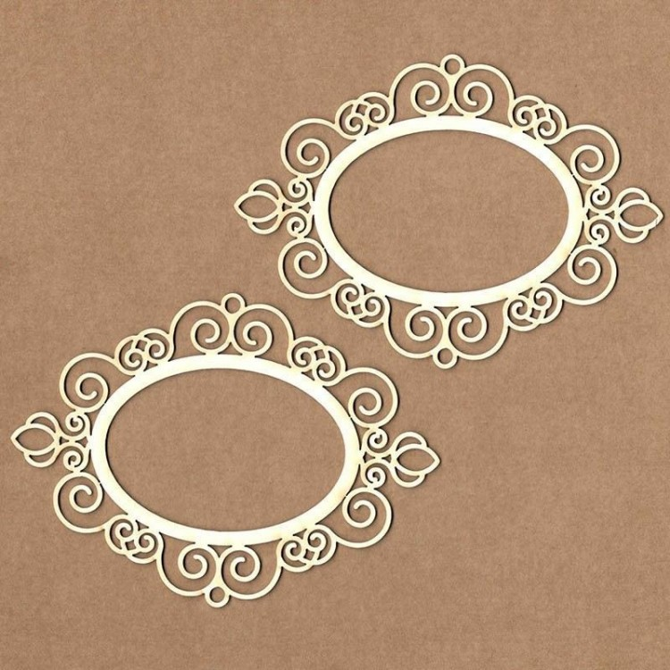 Chipboard - Victorian Oval Frame