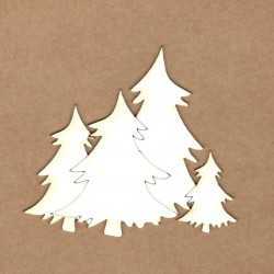 Chipboard - Christmas Trees