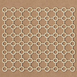 Chipboard - Grating background with circles