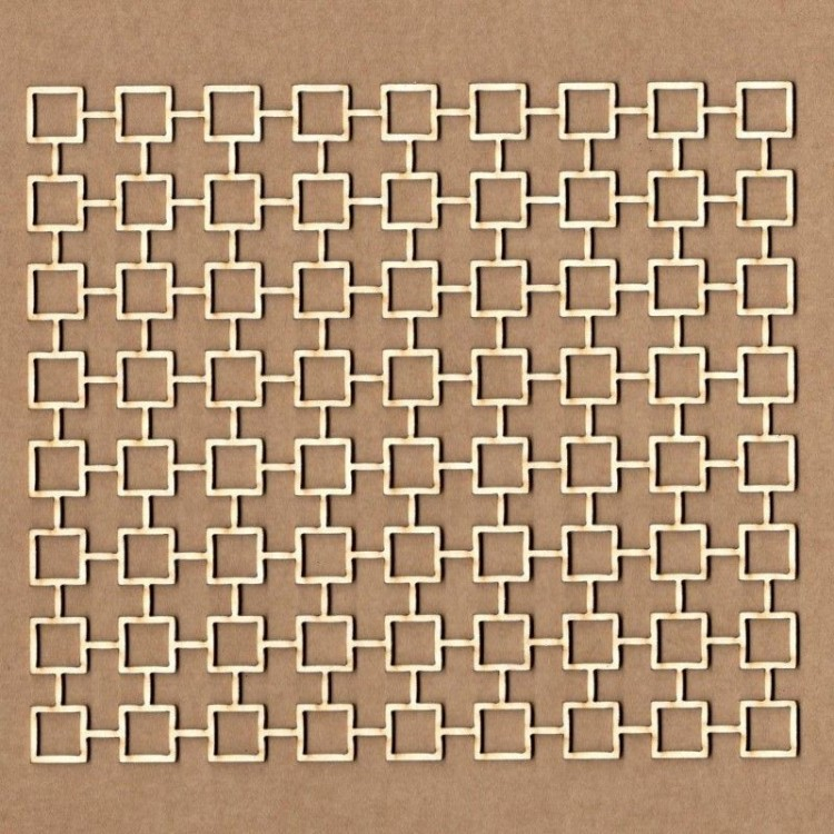 Chipboard - grid background with squares
