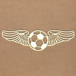 Chipboard - Soccer Ball with Wings - Large