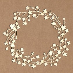Chipboard - Marco corona floral