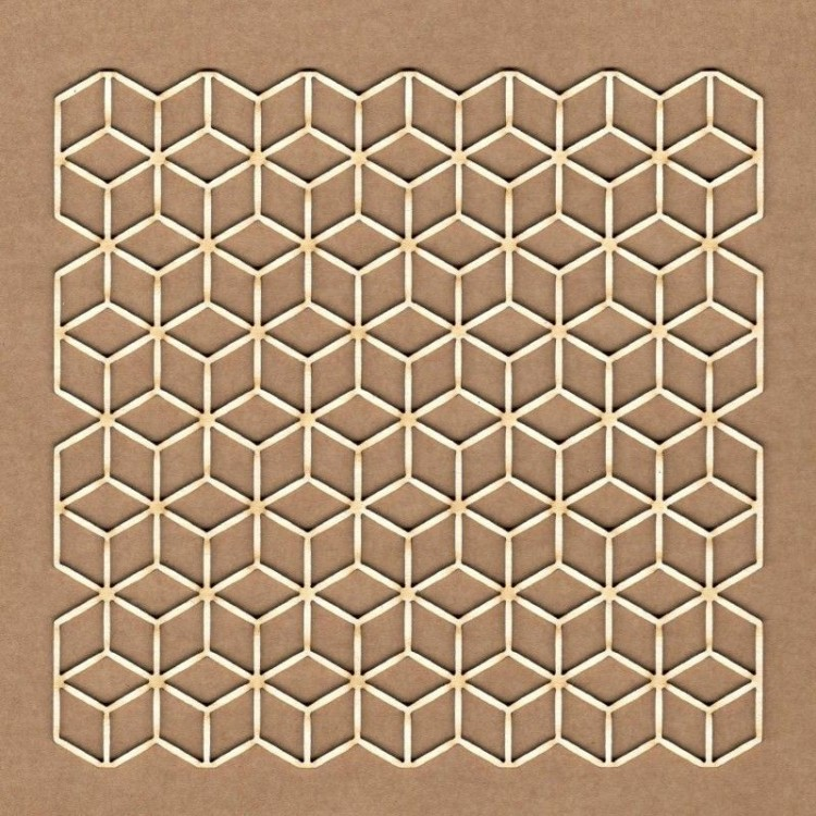 Chipboard - Cubes background