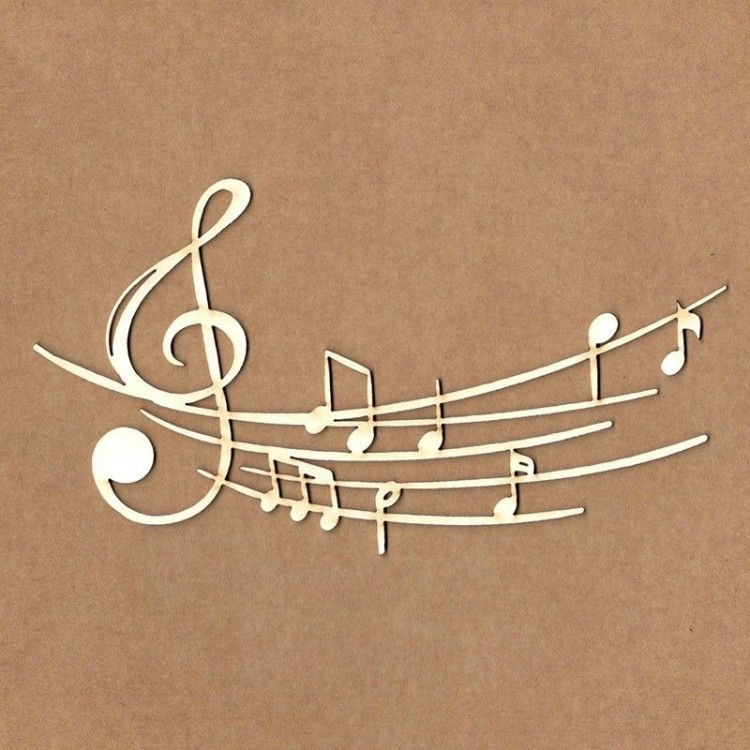 Chipboard - Musical Notes
