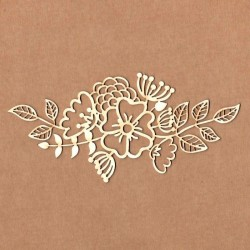Chipboard - Bouquet of mixed flowers