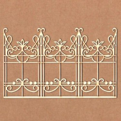 Chipboard - Triple wrought iron gate