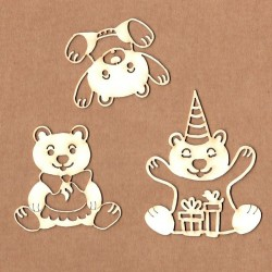 Chipboard - Party Bears