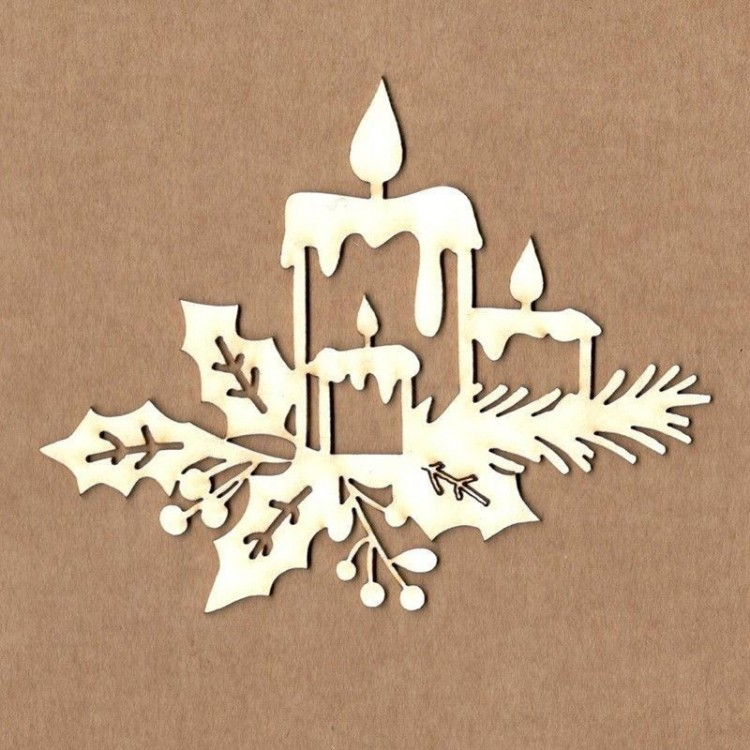 Chipboard - Christmas candles