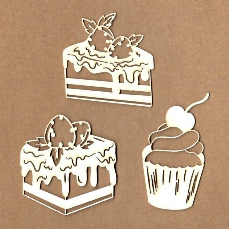 Chipboard - Cupcakes