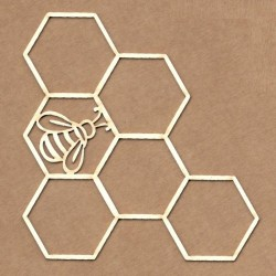 Chipboard - Panal con abeja