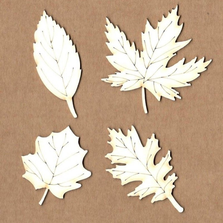 Chipboard - Autumn Leaves