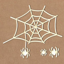 Chipboard - Cobweb with spiders