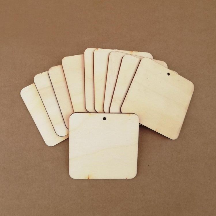 Wooden tags - Square