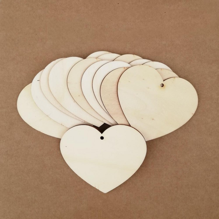 Wooden tags - Heart