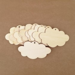 Wooden tags - Cloud