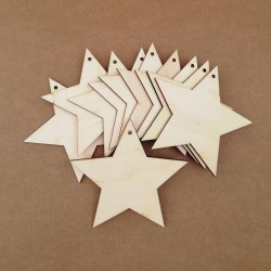 Wooden tags - Star