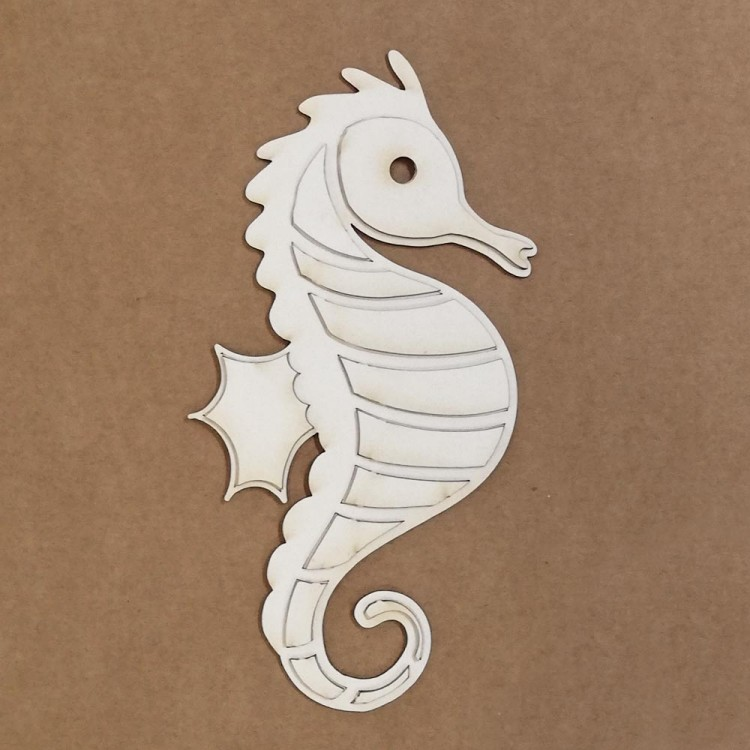 Chipboard Silhouette - Seahorse