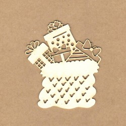 Chipboard - Sack with gifts