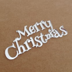 silver mirror methacrylate - Merry Christmas