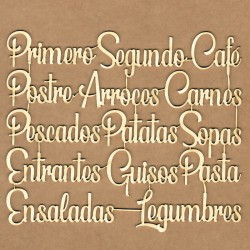 Chipboard Set - Cooking Phrases