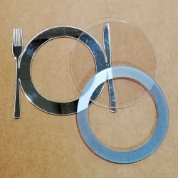 Shaker - Plate with mirror cutlery