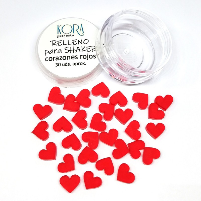Shaker filling - Red hearts