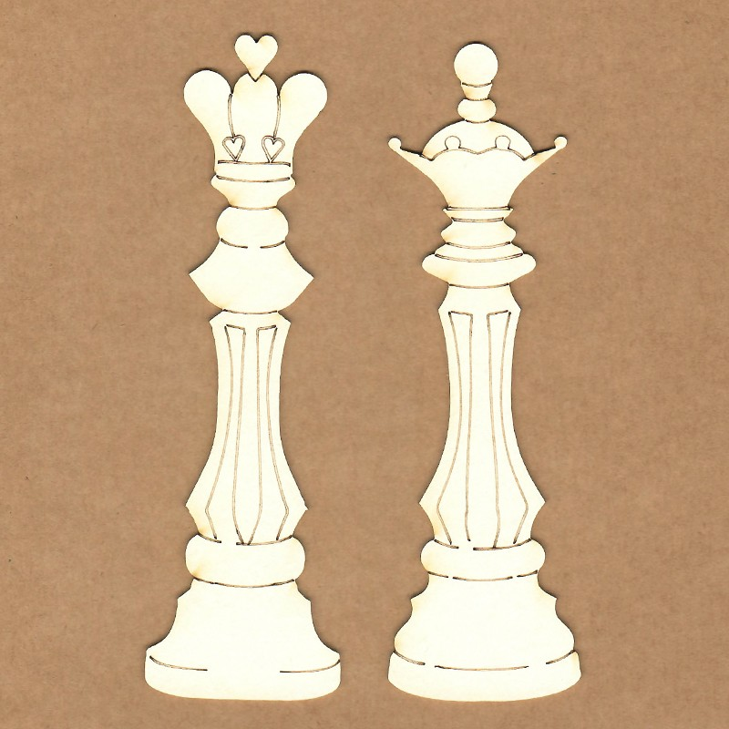 Chipboard - Queen and King of chess