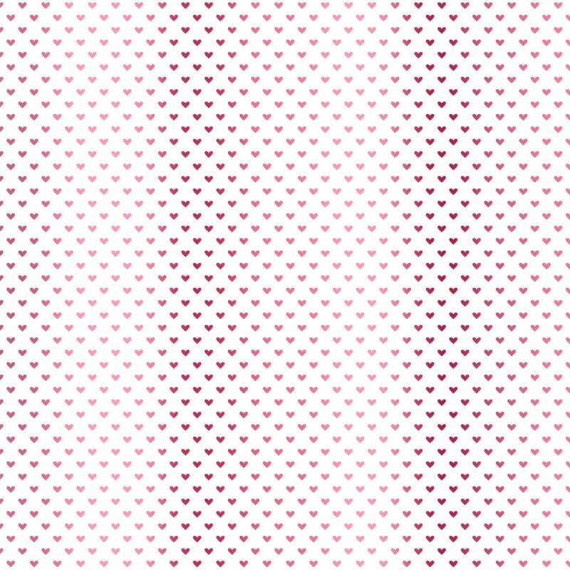 Pink foil Hearts - white