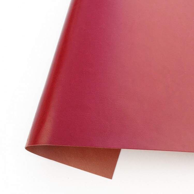 Ecoleather satin - Bordeaux Red