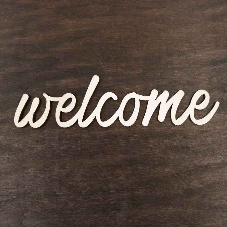 Wooden word - welcome (30 cm.)