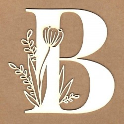 chipboard – Initial floral letter - B
