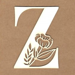 chipboard – Initial floral letter - Z